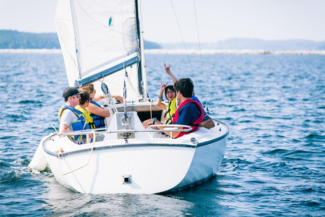 Sailors in a CSC boat - COURTESY OF THE COMMUNITY SAILING CENTER