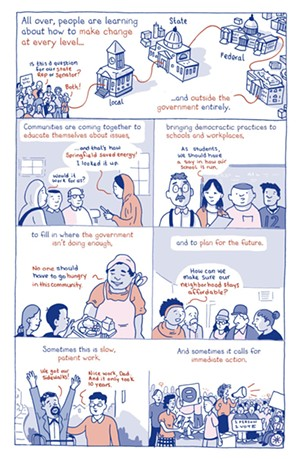 A panel from the graphic novel This Is What Democracy Looks Like: A Graphic Guide to Governance - COURTESY PHOTO