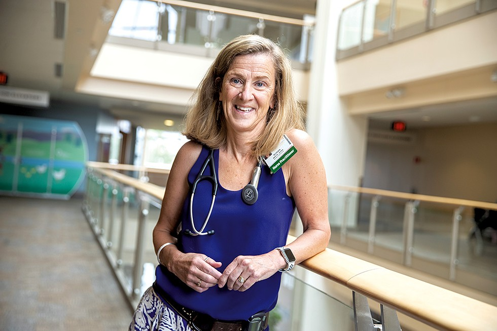 Susan White, a family nurse practitioner at the UVM Medical Center - JAMES BUCK