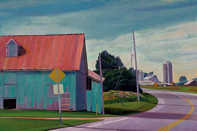 """Blue Barn, Summer Afternoon"""