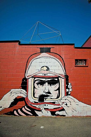 Mural by Adam DeVarney at the Soda Plant - FILE: NATALIE WILLIAMS
