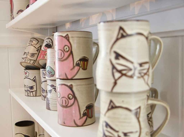Handcrafted mugs by Dan Siegel at Thirty-odd - FILE: NATALIE WILLIAMS