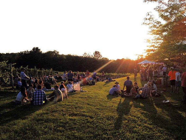 A concert at the vineyard - COURTESY OF SHELBURNE VINEYARD