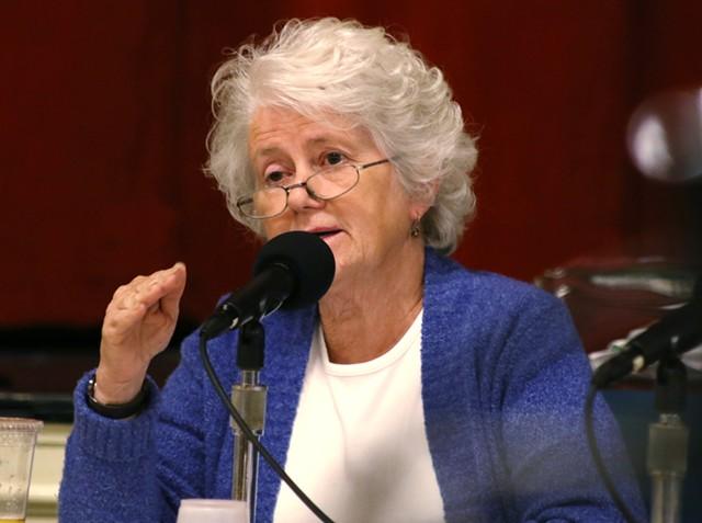 City Councilor Sharon Bushor (I-Ward 1) questions Brookfield - COURTNEY LAMDIN