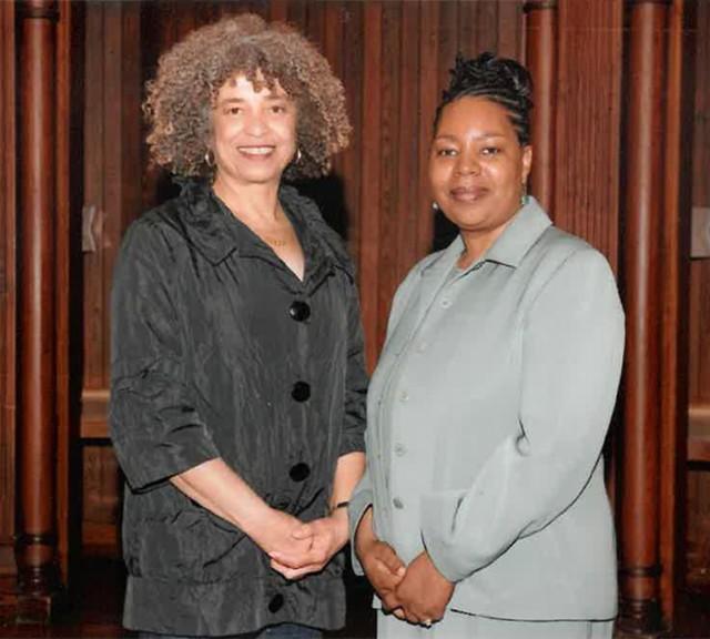 Angela Davis and Wanda - COURTESY OF WANDA HEADING-GRANT