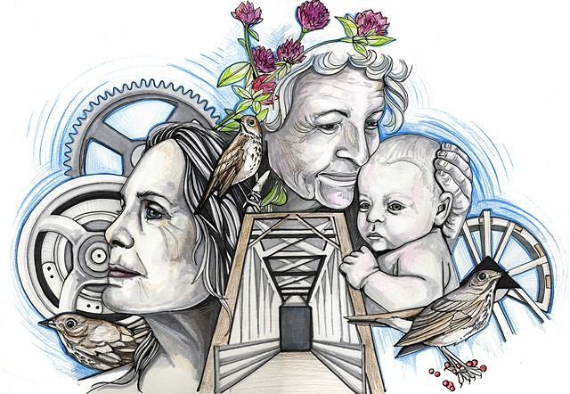 One of Sarah C. Rutherford's designs for the Jeffersonville silos - COURTESY OF SARAH C. RUTHERFORD