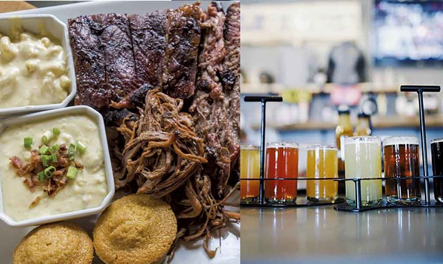 Barbecue and beer at Mill River Brewing BBQ & Smokehouse - COURTESY OF MILL RIVER BREWING BBQ AND SMOKEHOUSE
