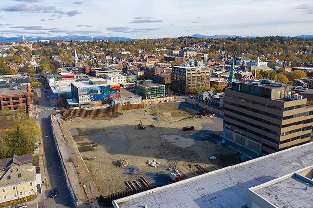 The site of Burlington's former downtown mall - FILE: JAMES BUCK