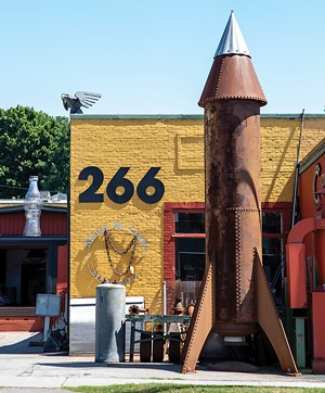 Steve Conant's rocket ship sculpture - LUKE AWTRY