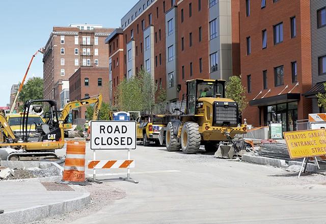 Construction on St. Paul Street - COURTNEY LAMDIN