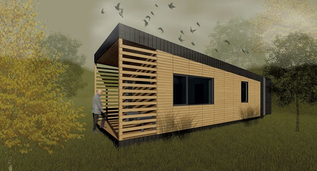 A rendering of the completed LIFT house - COURTESY OF NORWICH UNIVERSITY