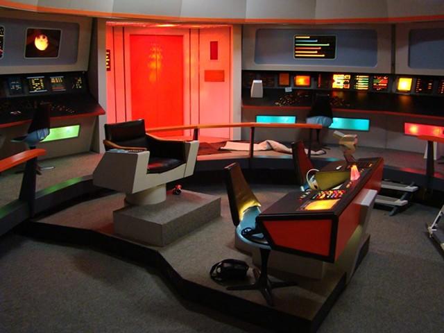 The bridge set on USS Enterprise - COURTESY OF TREKONDEROGA AND RETRO FILM STUDIOS