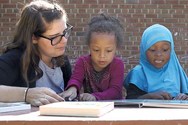Preschool students at the Sara Holbrook Community Center - COURTNEY LAMDIN