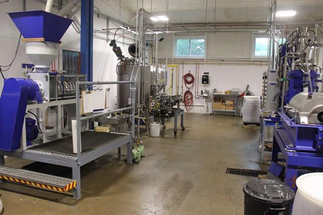 The equipment inside the Middlebury facility - COURTESY OF NETAKA WHITE