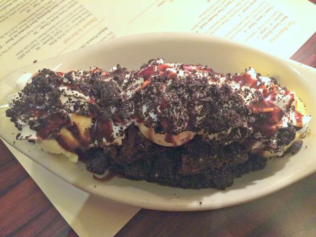 Oreo Brownie Sundae, $7 - ALICE LEVITT