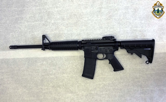 The Smith & Wesson M&P-15 rifle Louras used in a shootout with police - VERMONT STATE POLICE