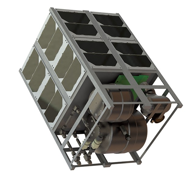 Bechmark Space Systems satellite system assembly - COURTESY OF BENCHMARK SPACE SYSTEMS