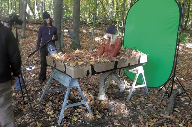 "Green screen shoot for ""Listen"" - COURTESY OF BRENT CAMPBELL"