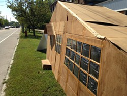 """The cardboard model home for """"Miroville."""" - MOLLY WALSH"""