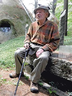Bob Chappelle, 95, began building his house in 1988. - JEB WALLACE-BRODEUR
