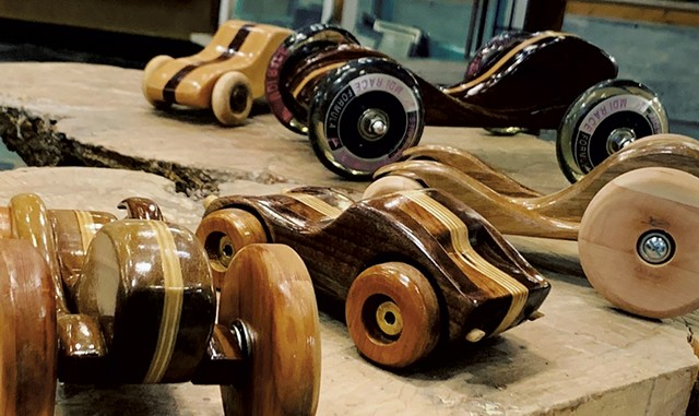 Wooden toy cars by Jonnie Davis - COURTESY PHOTO