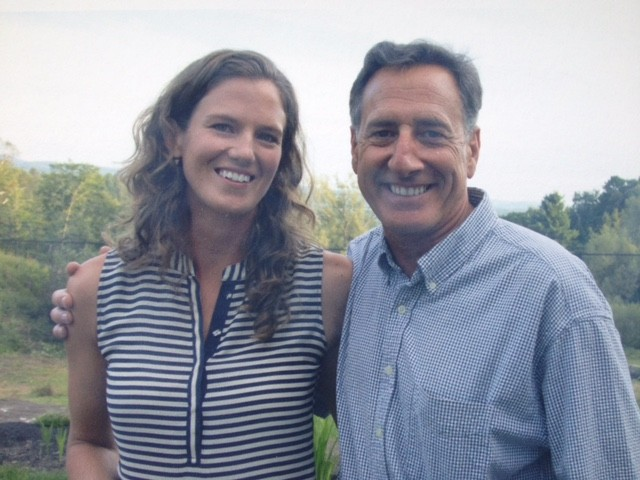 Katie Hunt and Gov. Peter Shumlin - COURTESY: OFFICE OF GOV. PETER SHUMLIN
