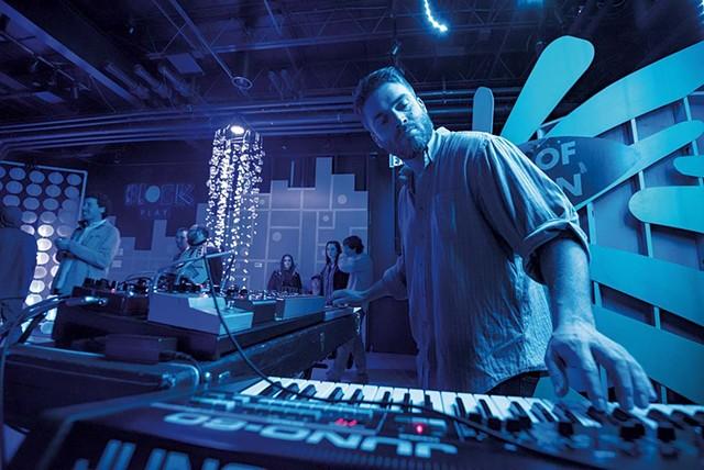 A DJ at the Illuminated Waterfront - COURTESY OF KYLE TANSLEY