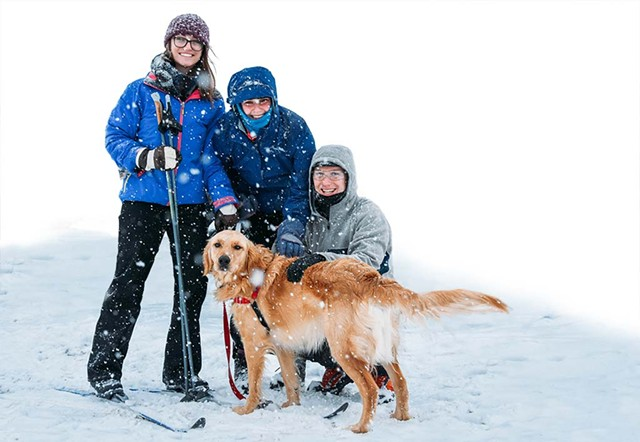 Family cross-country skiing at the Intervale - COURTESY OF THE INTERVALE CENTER