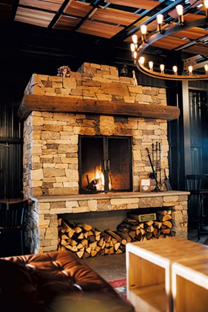The Great Northern fireplace - COURTESY OF KATIE PALATUCCI