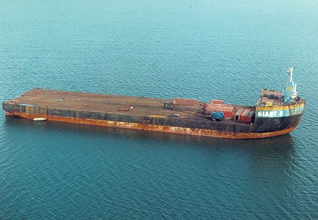 The barge Giant IV - COURTESY PHOTO
