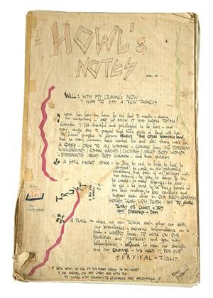 Notebook at HOWL - KAREN PIKE