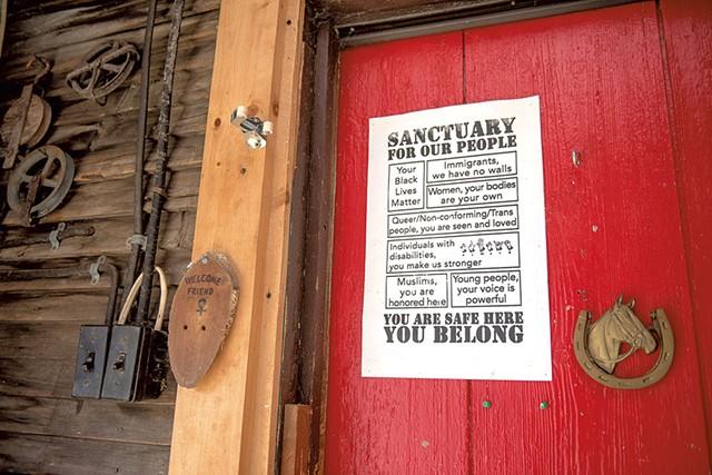 Sign at the farmhouse - KAREN PIKE