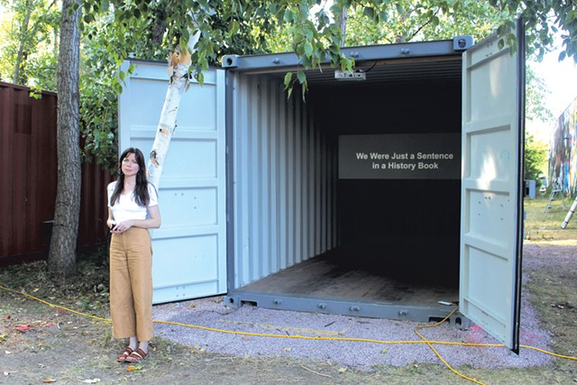 """Abbey Meaker at Overnight Projects' """"Liminal States"""" installation, August 2019 - FILE: BRIDGET HIGDON"""