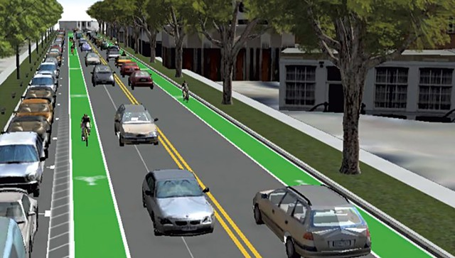 One of the North Winooski Avenue concepts - COURTESY OF RSG