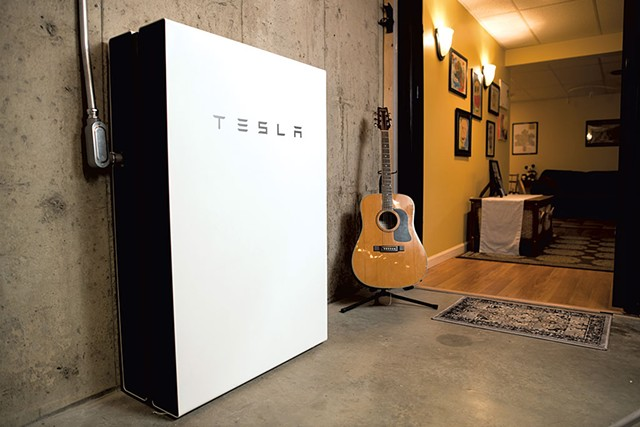 A Powerwall in Colchester - COURTESY OF GREEN MOUNTAIN POWER