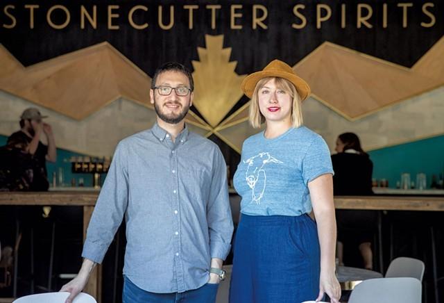 Sivan Cotel and Sas Stewart, cofounders of Stonecutter Spirits - FILE: JAMES BUCK