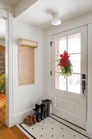A winter wish list greets visitors. - OLIVER PARINI