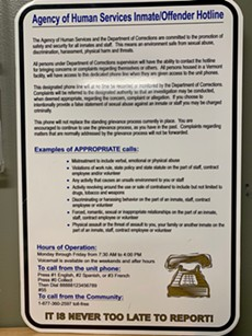 A sign displayed at the Chittenden Regional Correctional Facility - COURTESY OF THE AGENCY OF HUMAN SERVICES