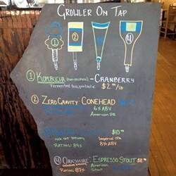 Growler menu - COURTESY OF MORSE BLOCK DEL
