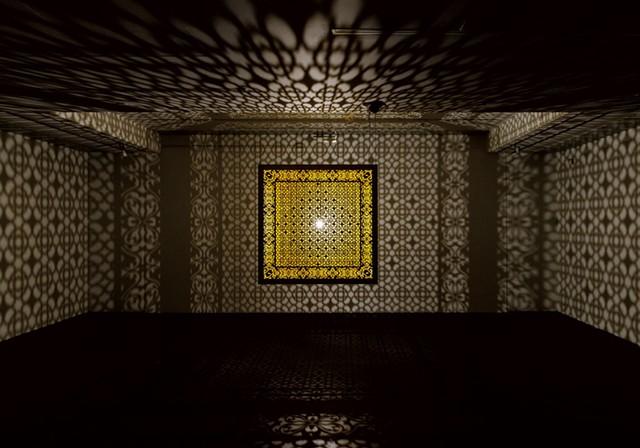 """Hidden Diamond-Saffron"" by Anila Quayyam Agha - COURTESY OF SUNDARAM TAGORE GALLERY NYC/BCA CENTER/SAM SIMON"