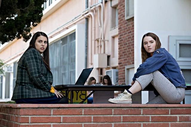 Beanie Feldstein (left) and Kaitlyn Dever in Booksmart