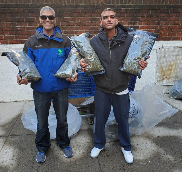 Ronen, left, and Oren Levy after they got their hemp back - COURTESY OF OREN LEVY