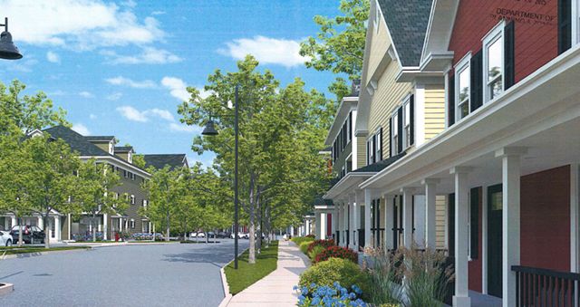 A rendering of the new neighborhood submitted to the Burlington Development Review Board. - COURTESY: SD IRELAND