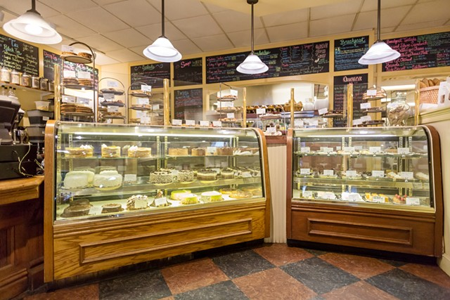 Glass cases at MIrabelles Café & Bakery - FILE: OLIVER PARINI