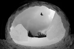 Ben Ferguson snowboarding at Seven Springs - COURTESY OF DEAN GRAY