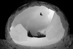 Ben Ferguson snowboarding at Seven Springs - COURTESY OF DEAN GRAY