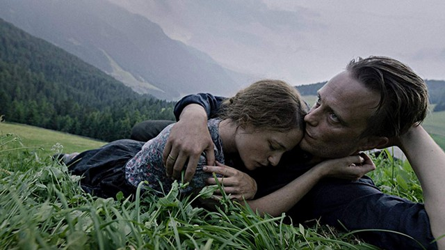 SPLENDOR IN THE GRASS Diehl and Pachner play a farming couple parted by conscience in Malick's lyrical bio-drama.