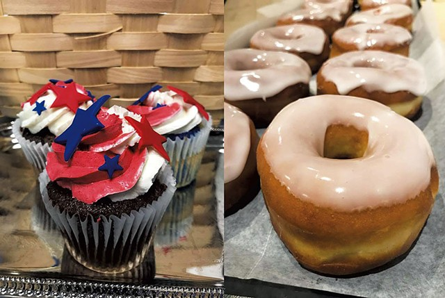 Fourth of July cupcakes and doughnuts at La Brioche - PHOTOS COURTESY OF NEW ENGLAND CULIINARY INSTITUTE