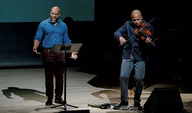 The Just and the Blind with Marc Bamuthi Joseph (left) and Daniel Bernard Roumain - FADI KHEIR