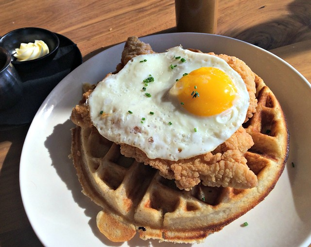 Chicken and waffles ($14) - ALICE LEVITT